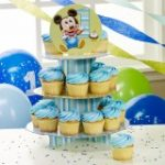 MICKEYS 1ST BIRTHDAY CUPCAKE STAND