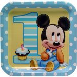MICKEYS 1ST BIRTHDAY DINNER PLATE