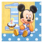 MICKEYS 1ST BIRTHDAY LUNCH NAPKIN