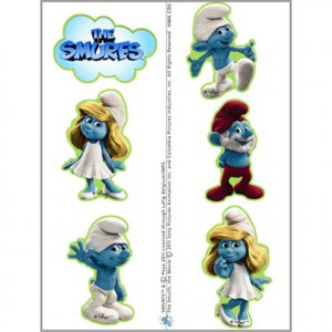 SMURFS TEMPORARY TATTOO