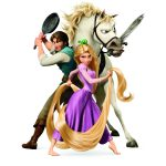 TANGLED AND FRIENDS CAKE ICING IMAGE