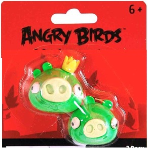 ANGRY BIRDS PUZZLE ERASER SET-GREEN