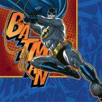 BATMAN HEROES and VILLAINS BEVERAGE NAPKIN