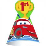 CARS 1st BIRTHDAY CHAMP CONE HATS