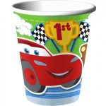 CARS 1st BIRTHDAY CHAMP HOT-COLD CUPS