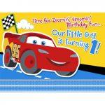 CARS 1ST BIRTHDAY CHAMP INVITATIONS