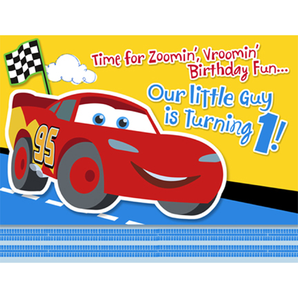 CARS 1st BIRTHDAY CHAMP INVITATIONS | This Party Started