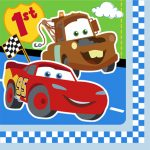 CARS 1ST BIRTHDAY CHAMP LUNCH NAPKINS