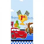 CARS 1st BIRTHDAY CHAMP TABLE COVER
