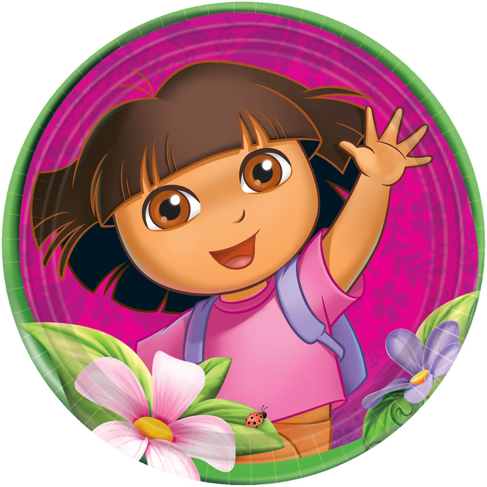 Dora S Flower Adventure Dinner Plates This Party Started