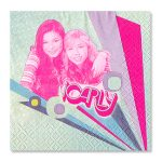 ICARLY BEVERAGE NAPKINS