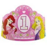 PRINCESS 1st BIRTHDAY PAPER TIARAS