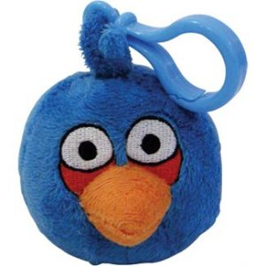 Plush Angry Birds Backpack Clip On - BLUE