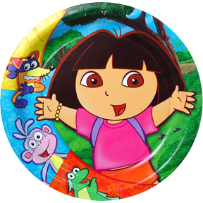 Excellent Dora Cake Icing Image This Party Started Funny Birthday Cards Online Alyptdamsfinfo