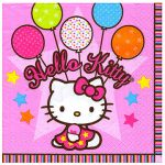 HELLO KITTY BALLOONS BEVERAGE NAPKINS