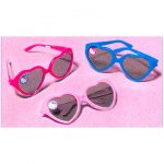 HELLO KITTY BALLOONS HEART GLASSES