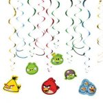 ANGRY BIRDS HANGING SWIRL DECORATION
