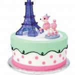 PINK POODLE IN PARIS CAKE TOPPER