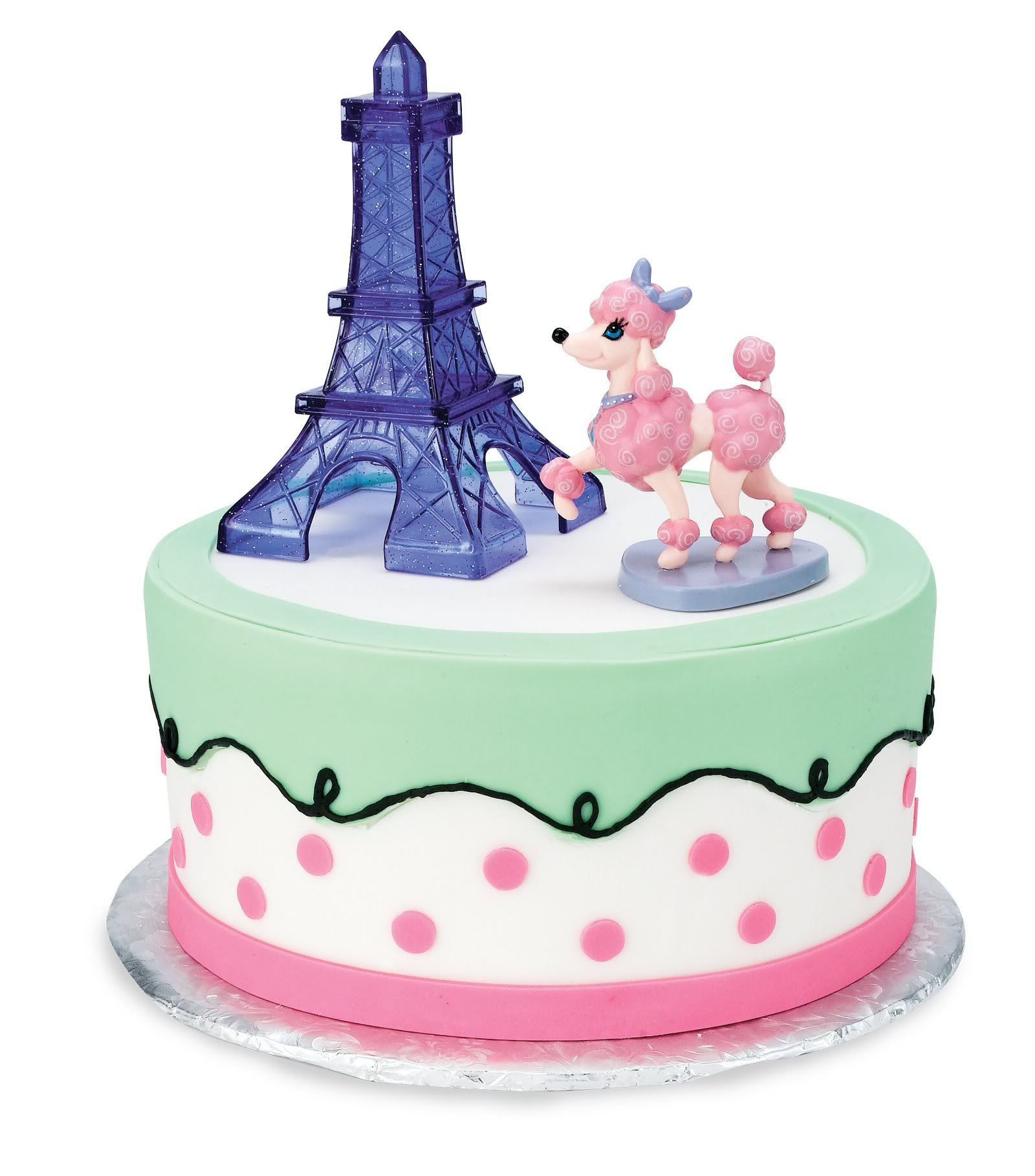 Cake Toppers Cake : PINK POODLE IN PARIS CAKE TOPPER This Party Started