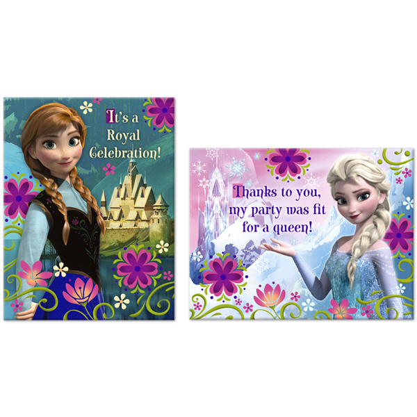 Disney Frozen Invitation Thank You This Party Started