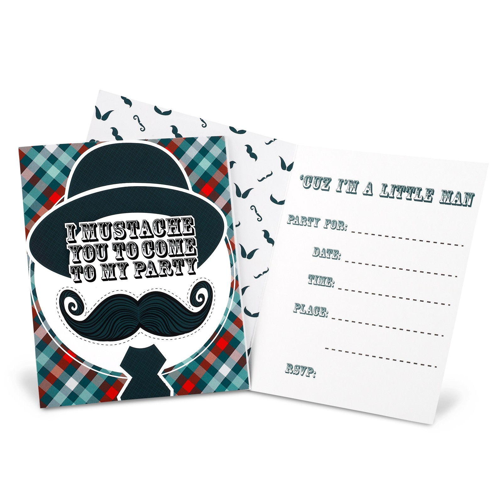 LITTLE MAN MUSTACHE INVITATIONS | This Party Started