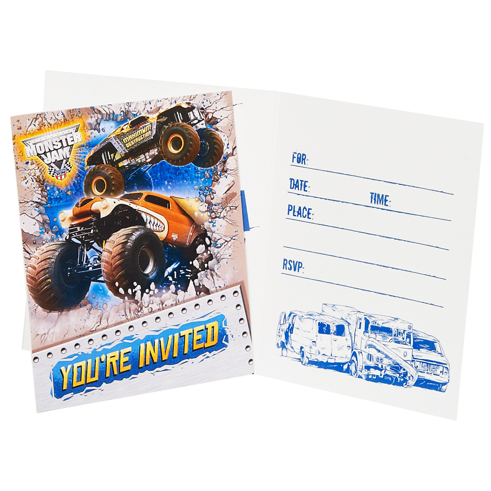 Monster Jam Party Supplies And Invitations This Party