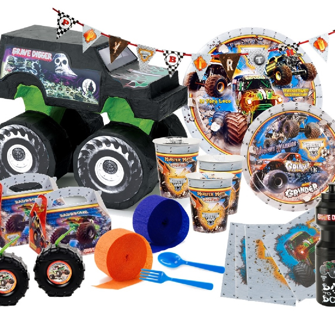 monster jam truck 3d party pack  monster jam truck party pack