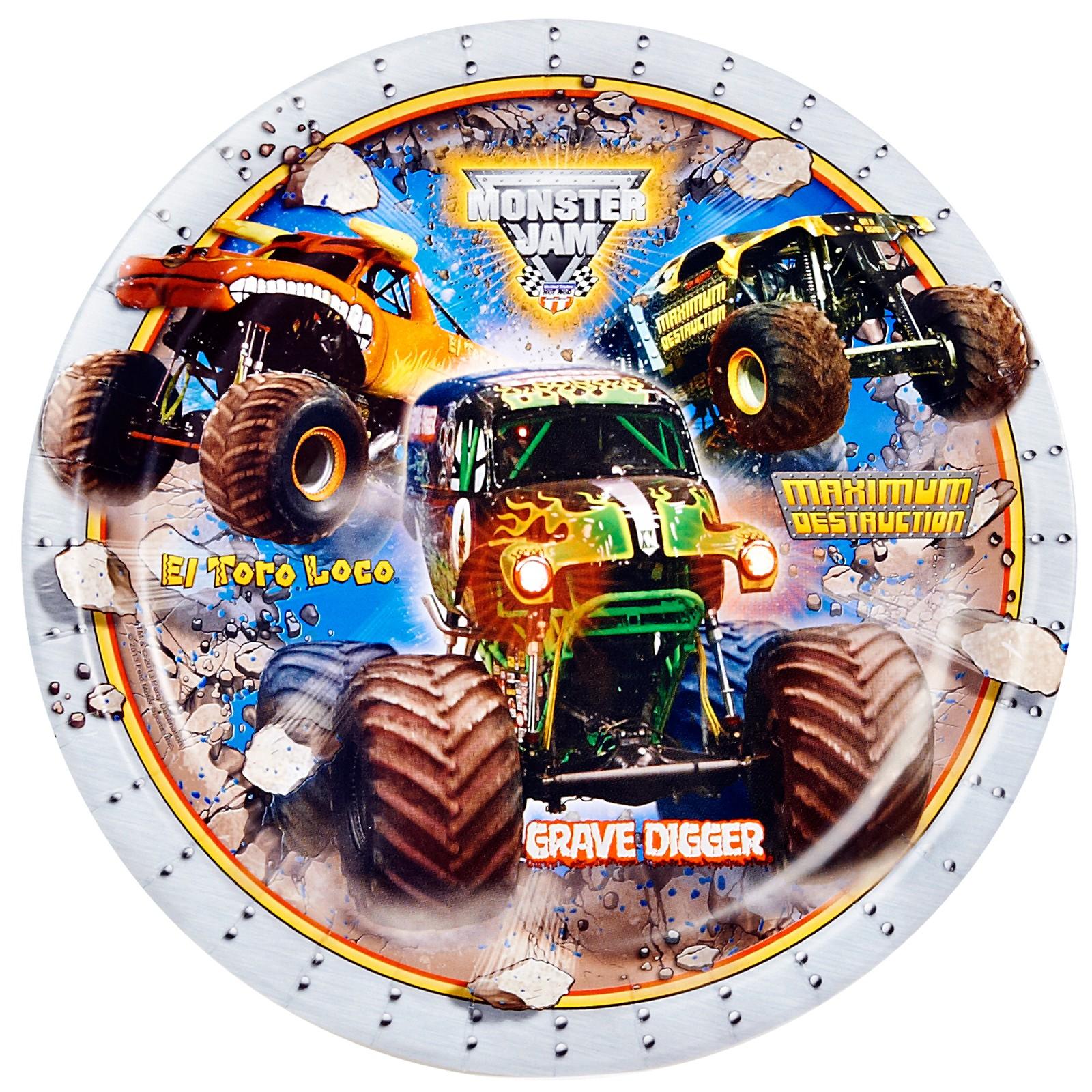 Monster Jam Dinner Plates, Monster Truck Dinner Plates