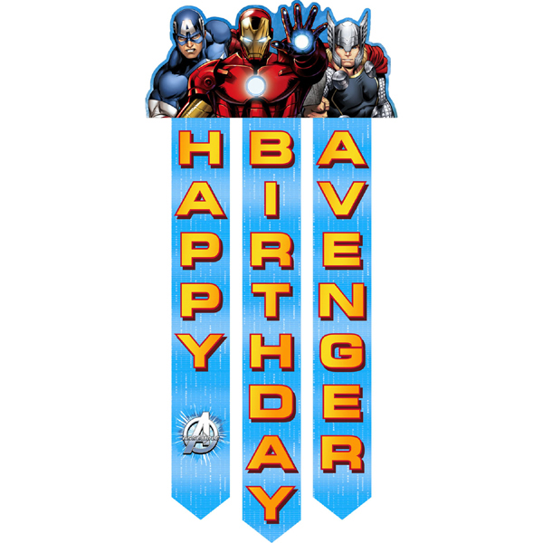 Avengers Assemble Birthday Banner This Party Started