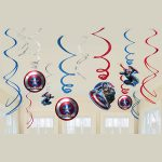 CAPTAIN AMERICA HANGING SWIRLS