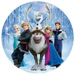 DISNEY FROZEN CHARATERS CAKE IMAGE