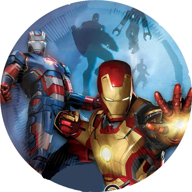 Iron Man Amp Patriot Cake Icing Image This Party Started