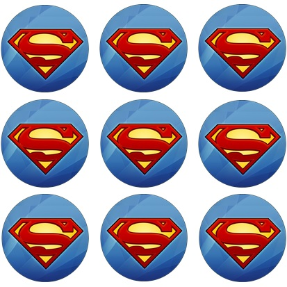 SUPERMAN CUPCAKE ICING IMAGE | This Party Started