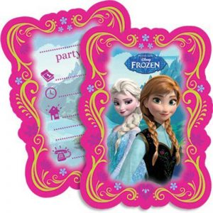 Disney's Frozen party invites with envelopes