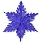 METALLIC BLUE WINTER SNOWFLAKE