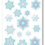 SNOWFLAKE WINDOW CLINGER