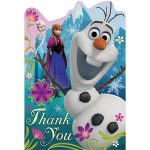 DISNEY FROZEN LARGE POSTCARD THANK YOU NOTES