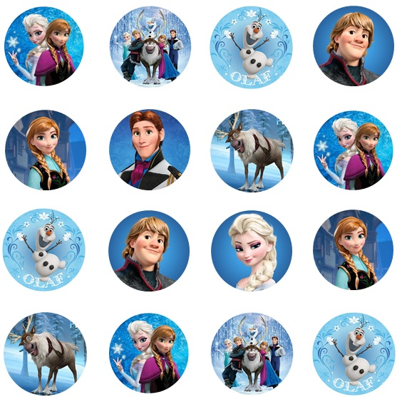 Disney Frozen Multi Cupcake Icing Images This Party Started