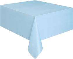BABY BLUE PLASTIC TABLECOVER RECTANGLE