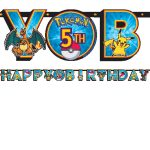 Pokemon & Friends BIRTHDAY BANNER