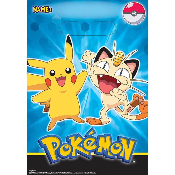 First Birthday Boy Party Loot Bag Single: Pokemon Treat Sacks, Pokemon Lolly Bags, Pokemon Treat Bags