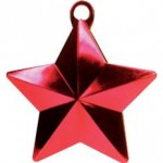 RED GLITZ STAR BALLOON WEIGHT