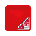 RED DESSERT PLASTIC Square PLATES