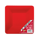 RED PLASTIC Square Bowl PLATES