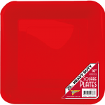 RED DINNER PLASTIC Square PLATES