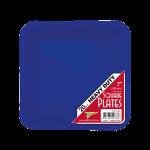 BLUE DESSERT PLASTIC SQUARE PLATES