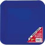 BLUE DINNER PLASTIC SQUARE PLATES