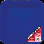 BLUE DINNER PLASTIC SQUARE PLATES