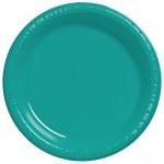 CARIBBEAN TEAL DESSERT PLASTIC PLATES