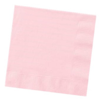 PASTEL PINK LUNCH NAPKINS